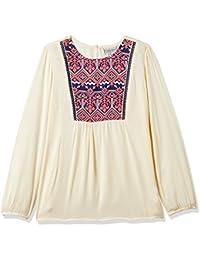 Cherokee Girls' Plain Regular Fit Rayon Shirt