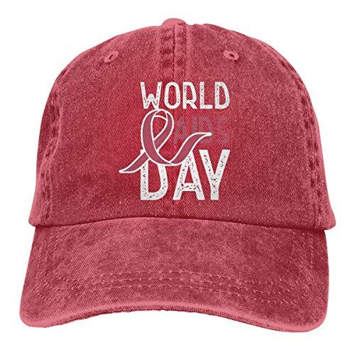 angwenkuanku Unisex Baseball Cap Garn gefärbt Denim Hut HIV Aids Awareness World Aids Day einstellbare Snapback Jagd Cap wunderschöne - Colts Kostüm Frauen