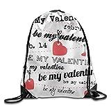 Drawstring Backpack Art Design Print Rucksack Shoulder Bags Gym Bag Cool Valentines Day Heart Love Be Mine 2 Fricstar