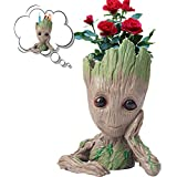 ACTRINIC Groot Plant Pots,Tree Man Groot Flowerpots,Multipurpose Creative Pen Holders,Car Decoration,Tabletop Decorations, Funny And Usefull Groot,Creative Gifts for Kids/Boyfriend/Girlfriend