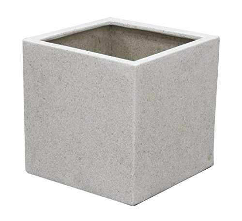 Primrose Cache-Pot Poly Terrazzo Cube Blanc (Petit H20cm x 20cm x 20cm - 5 litres)