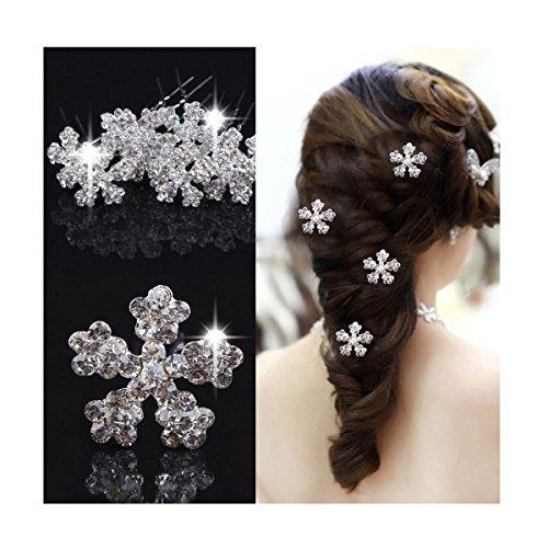 chneeflocke Kristall Hair Pins Klammer Braut Hochzeit Haarnadeln (Schneeflocke-pin)