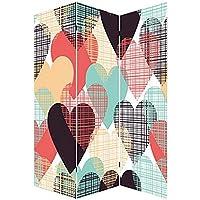 Biombo Heart in Love, fotoimpresión sobre lienzo reforzado, montado sobre bastidores de madera.