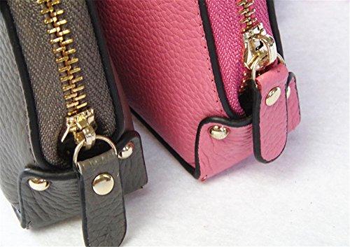 Swallowuk Donna Portafoglio In Pelle Bow-knot Bella Carta Pacchetto Borsa Casuale (Pink) Pink