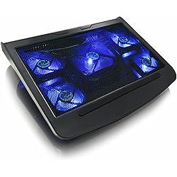 AAB Cooling NC45 - Refroidisseur PC avec 5 Ventilateurs et Rétroéclairage LED Bleu   Ventilateur PC Gamer   Ventilateur PS4   Refroidissement PC Portable et Consoles   Refroidisseur Ordinateur