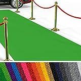 etm Hochwertiger Messeteppich Meterware | Rollteppich VIP Eventteppich, Hollywood Läufer, Hochzeitsteppich | 18 Farben in 23 Größen | Hellgrün - 100x300 cm