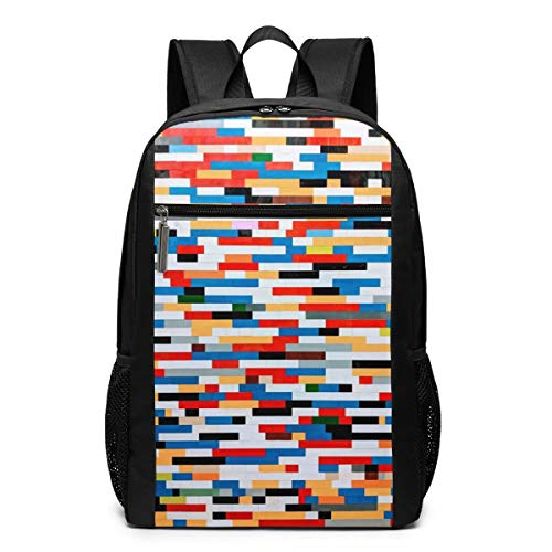 Colorful Geometric Laptop Backpack for College Student Outdoor Rucksack, Durable Casual Backpacks for Men Women -