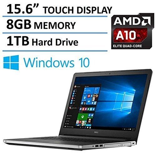 2016 Dell Inspiron 15 15.6-Inch Touchscreen Flagship Pemium Laptop PC, AMD A10-8700P Processor, 8GB Memory, 1TB HDD, DVD +/- RW , Webcam, Bluetooth, HDMI, Windows 10 51a1MnZOkRL