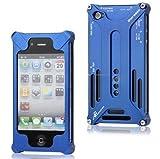 Alu Metall Aluminium Case für Apple iPhone 5 Bumper Bumpers Cover Schutz Tasche Schale Hülle Etui Schutzhülle - blau blue
