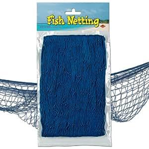 Fischernetz zur Dekoration 370 cm x 120 cm blau