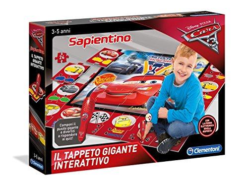 Clementoni 11987 - tappeto gigante interattivo cars 3