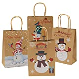 Elcoho 12 Pieces Christmas Kraft Bags Holiday Party Bag Shopping Bags Paper Bags with Handle for Christmas Decorations Bild 6
