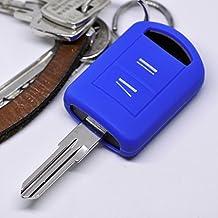 Opel Schlüssel Silikon Hülle Corsa C Meriva A Combo Tigra Agila Twintop Blau