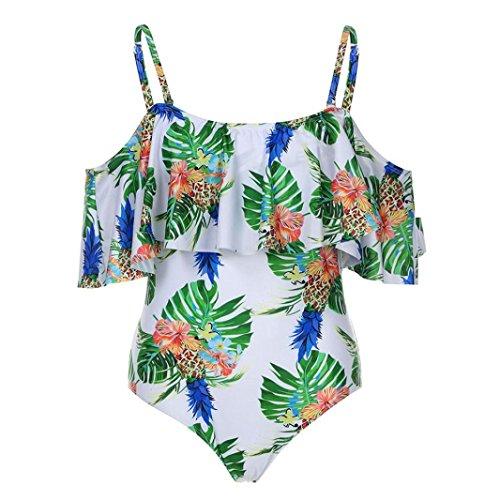 Femme Bandage bikini set push-up rembourré maillots [ maillot de bain femme 1 pieces ] white