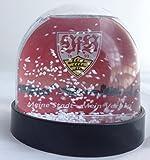 VfB Stuttgart Schneekugel Sammlerobjekt Weihnachtsartikel Geschenk Mannschaft + Wappen beidseitig aufstellbar. Durchmesser ca. 8 cm und Höhe 6 cm
