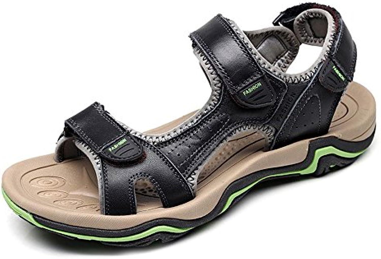 Calzado de Hombre Athletic Outdoor Trail Zapatos de Playa Leather Casual Fisherman Shoe Breathable Sandal by LLPSH