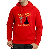 lepni.me Sudadera con Capucha Disfraces Fiesta de Danza de Halloween Eventos Traje Ideas (Large Rojo