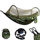 NATUREFUN Hamac de Voyage Ultra-léger Camping avec moustiquaire| 300 kg de capacité...