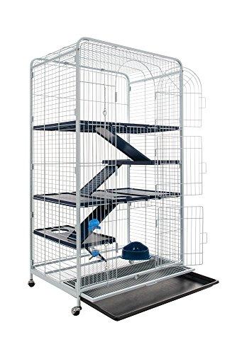 Tyrol Bigtower Cage pour Petit Animaux Bleu/Noir 79x52x140 cm