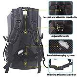 30L Roll Top Rucksack Backpack Packsäcke Dry Bag Sack Wasserdicht Regenschutz (Grau) Vergleich