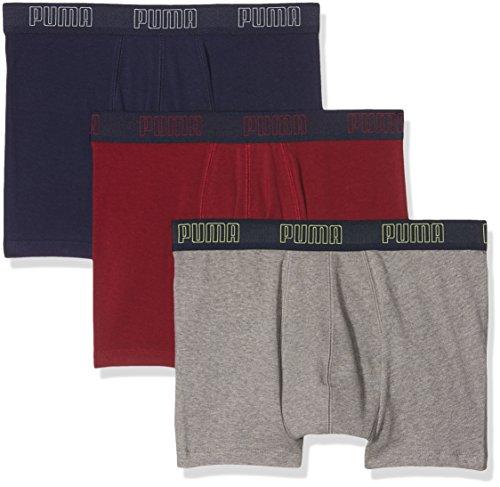 Puma Promotion, Culotte para Hombre, Multicolore (Rhododendron), Medium (lot de 3 )