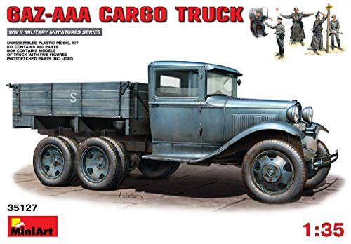 MINIART Echelle 1 : 35 Kit de Construction Camion Cargo gaz-AAA (Multicolore)