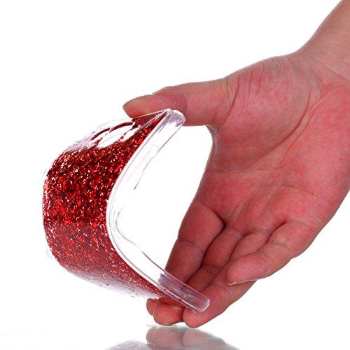 Coque Samsung Galaxy J5 2016 Glitter, Samsung Galaxy J5 2016 Coque Brillante, SainCat Ultra Slim TPU Silicone Case pour Samsung Galaxy J5 2016, Glitter Bling Diamante Strass Anti-Scratch Soft Gel 3D H Big Red