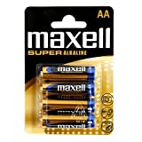 Maxell 774409.04.EU Alkaline Batterie SUPER, Mignon AA, 4er Blister