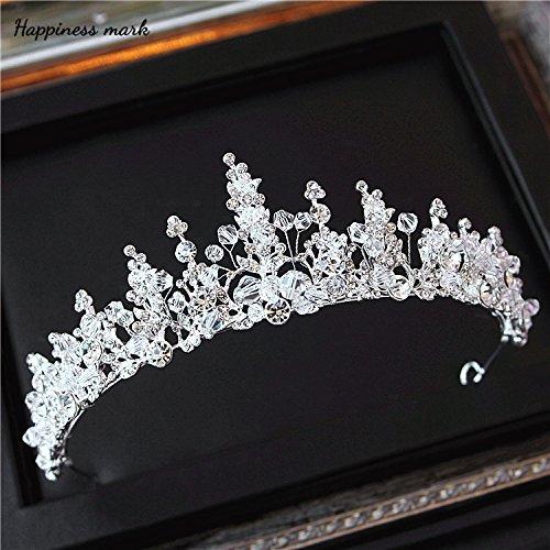 Krone kristall Hochzeit Kleid Schmuck handgefertigte Kopfbedeckungen Accessoires, Krone (Kostüm Pearl Bridal Schmuck)