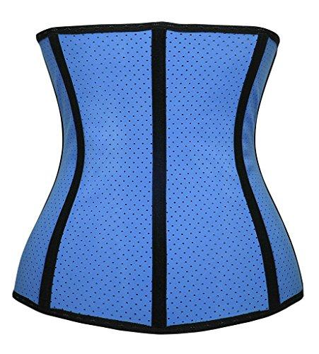 Dilanni Damen Taillenmieder Blue Breathable Latex