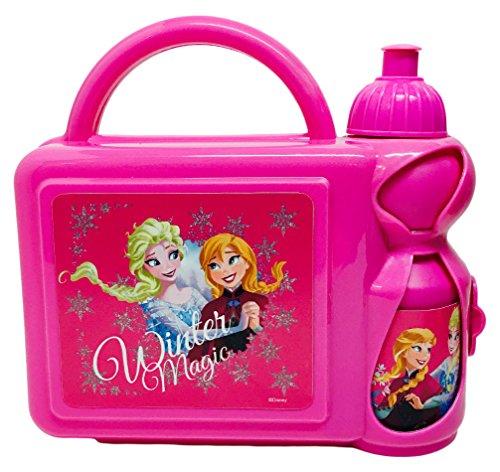 Disney Frozen Fiambrera Estuche Rígido con Botella