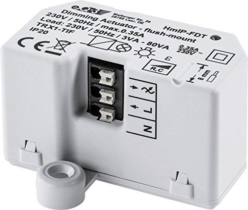 Homematic IP Smart Home Dimmaktor Unterputz – Phasenabschnitt, 150609A0, Phasenabschnittsdimmer eignet sich für klassische Glühlampen, Halogenlampen, für dimmbare Energiesparlampen wie auch für die meisten dimmbaren(!) LED-Lampen.