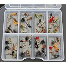 50trota mosche Ninfe Buzzer Ganci 12–Free Fly Box Pesca di Natale–Idea Regalo - Pesca A Mosca Indicatori Sciopero