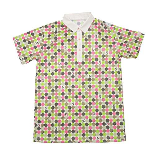 Damen Kurzarm-Polo-Shirt, das Musch Golf genießbar Macht 【Größe】: weiblich-L 【Farbe】: PK-4 (Eulen) BR40015-W-L Golf Wear/Damen_Weste/Damen-Komplett-Sets -