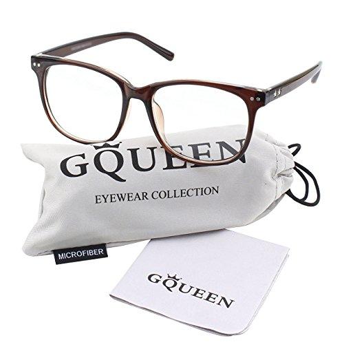 GQUEEN Großer Übergroßer Rahmen Hornbrille Klare Gläser Brille PE1