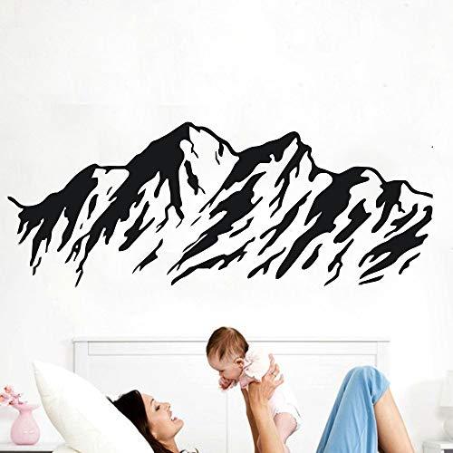woyaofal Berglandschaft Entfernbare Wandaufkleber Dekoration Kunst Aufkleber Vinyl Tapete Wohnzimmer Dekorative Wandbilder Aufkleber 50 cm x 120 cm
