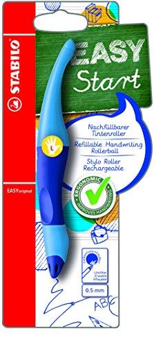 Stabilo B-46834-3 EASYoriginal Start Penna Roller Ergonomica per Mancini, Ricaricabile, Blu
