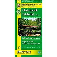 Naturpark Südeifel /Irrel, Bollendorf, Echternach, Region Müllerthal - Kleine Luxemburger Schweiz (WR): Naturparkkarte 1:25000 mit Wander- und ... Rheinland-Pfalz 1:15000 /1:25000)