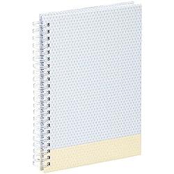 """Hama Spiral-Album """"Filigrana"""" (Fotoalbum mit 40 weißen Seiten und Spiralbindung, für 80 Fotos im Format 10x15) Fotobuch, Spiral-Buch pastell-gelb"""