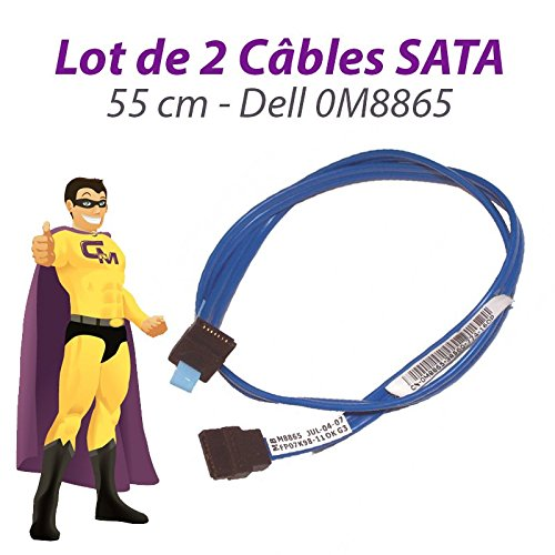 Dell 2 Stück Kabel sata 0M8865 optiplex 745 gx520 gx620 dimension 9100 55cm blau - Gx520 Computer
