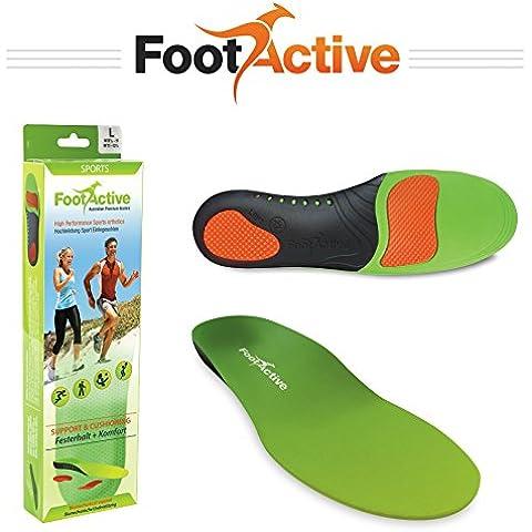 FootActive SPORT - Plantillas de alto impacto para deportes, ocio, trabajo y diversión