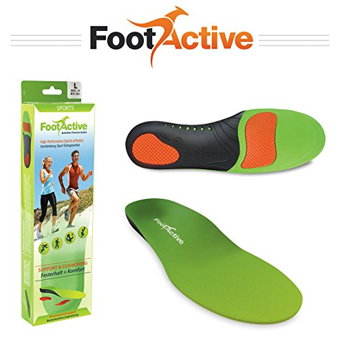 FootActive SPORTS Insoles- High-Impact Full-Length Advanced Orthotic Arch-Support Insoles for Sports, Athletics, Leisure, Work and Play. Maximum Comfort and Shock Absorption for Injury Prevention Test