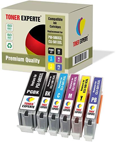 Kit 6 XL TONER EXPERTE PGI-580XXL CLI-581XXL PGI-580 CLI-581 XXL Cartucce d'inchiostro compatibili per Canon Pixma TS705 TS8150 TS8151 TS8152 TS8250 TS8251 TS8252 TS9150 TS9155