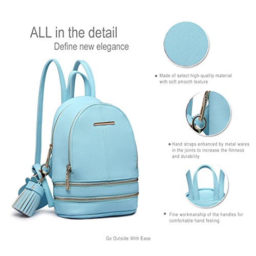 Miss Lulu, Borsa a zainetto donna 1705 Blue