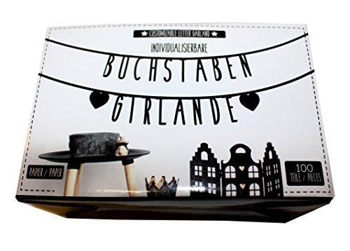 Individualisierbare Papier Buchstaben Girlande 100 gebraucht kaufen  Wird an jeden Ort in Deutschland