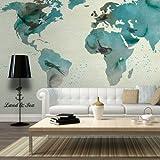 murando – Papier peint intissé 350x270 cm - Papier peint - Trompe l oeil - Tableaux muraux - déco – XXL la carte du monde - 10040910-45