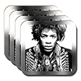 Jimi Hendrix Sottobicchieri Americano Cantante Musicista Cantautore - Set di 4