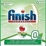 Finish 0% Spülmaschinentabs, brillante Reinigung ohne Duft- Und Konservierungsstoffe, Gigapack, 162 Tabs (6 x 27 Tabs)