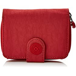 Kipling New Money, Monedero para Mujer, Rojo (Spicy Red C), 9.5x12.5x3 cm