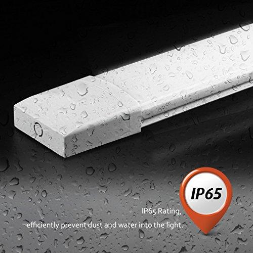 LED Feuchtraumleuchte Deckenleuchte Pendelleuchte Badlampe, wasserdicht für Innen und Außenbereich, 36W, 120CM, IP64, 4000K
